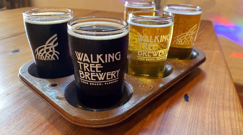 Walking Tree Brewery Beer Flight