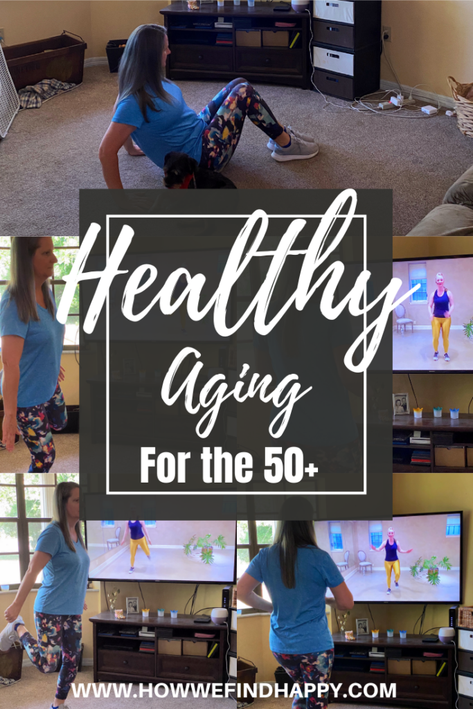 Pinterest image Healthy aging for women