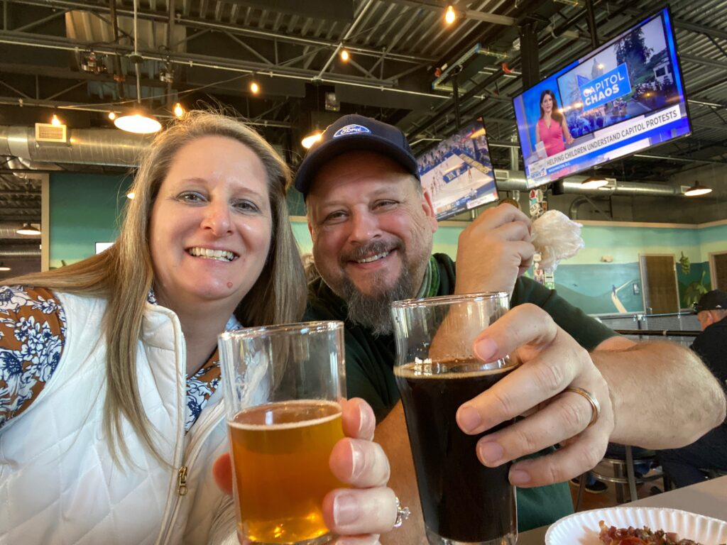 Couple at Suncreek Brewery in Clermont