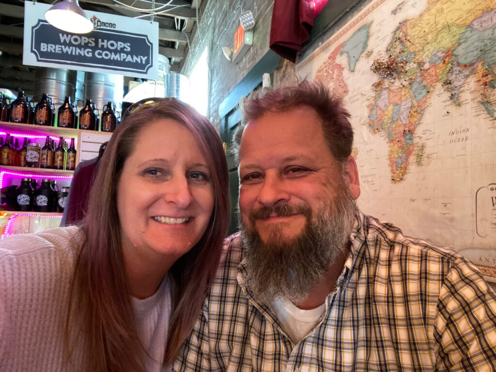 Couple at Wops Hops Brewing in Central Florida