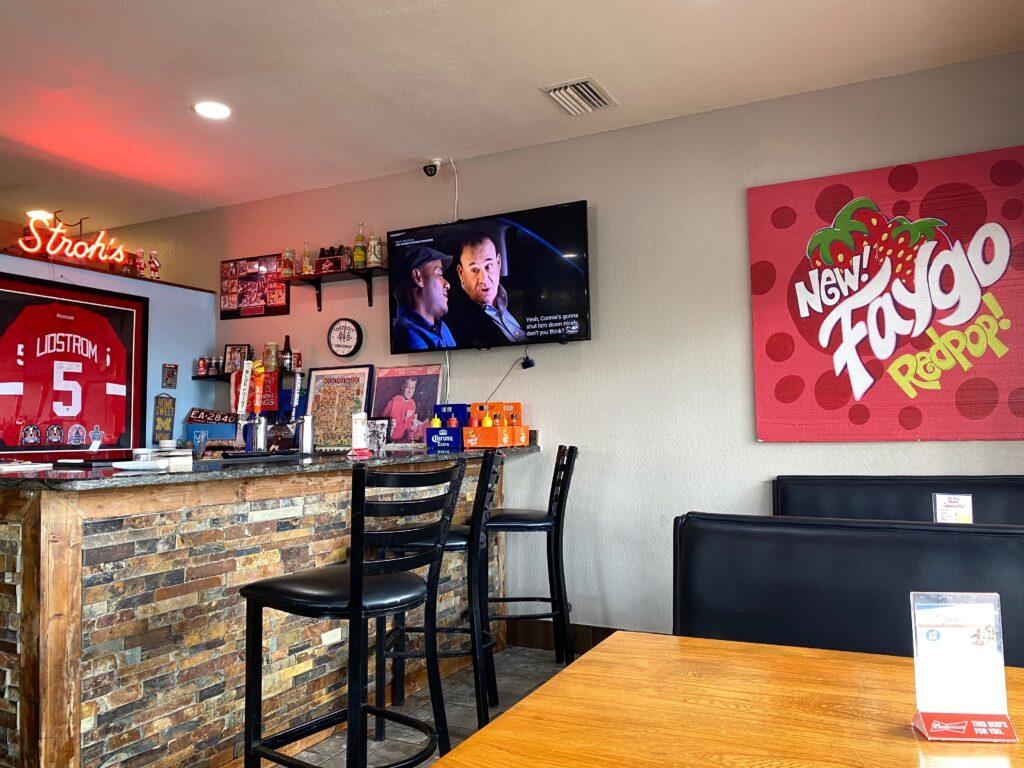 Bar area inside Detroit Coney Island