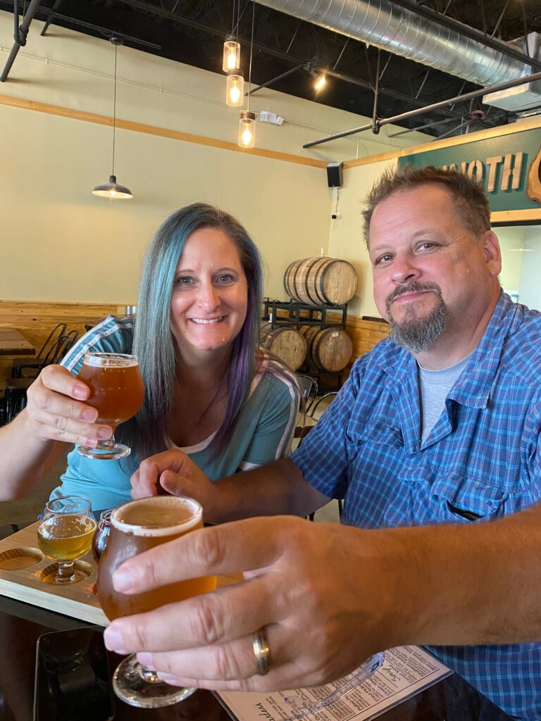 Couple at Mammoth Oak Brewing