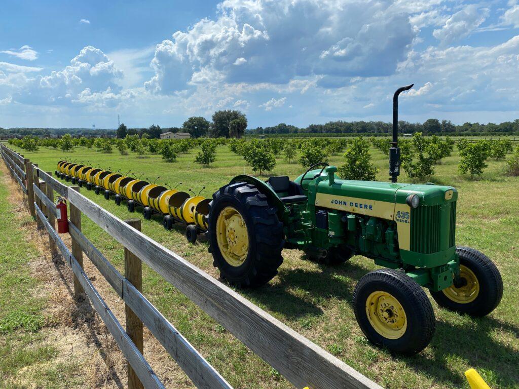 Bee Barrel tractor train ride