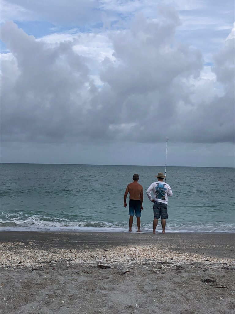 Father and son fishing on Captiva Island