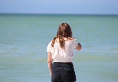 Teen on Captiva Island Beach