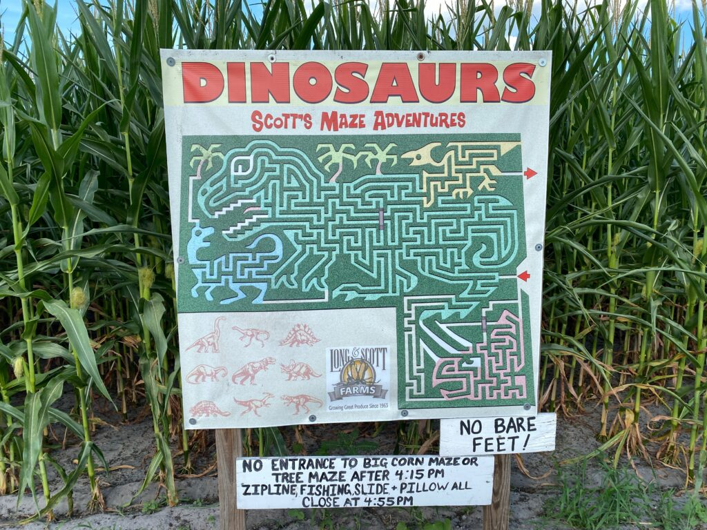 Guide to Long and Scott Farms and Corn Maze