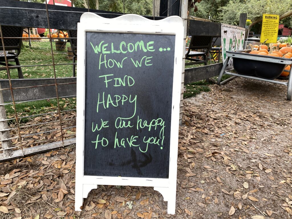 Welcome sign at Lil' Bit of Life Farm